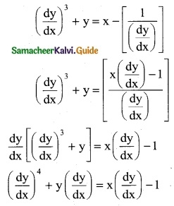 Samacheer Kalvi 12th Business Maths Guide Chapter 4 Differential Equations Ex 4.1 2