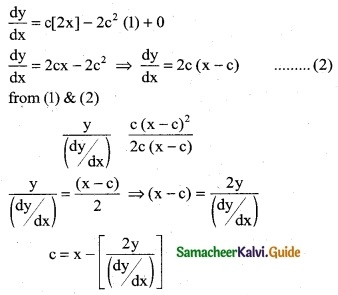 Samacheer Kalvi 12th Business Maths Guide Chapter 4 Differential Equations Ex 4.1 3