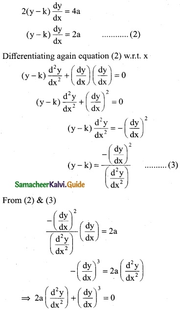 Samacheer Kalvi 12th Business Maths Guide Chapter 4 Differential Equations Ex 4.1 8