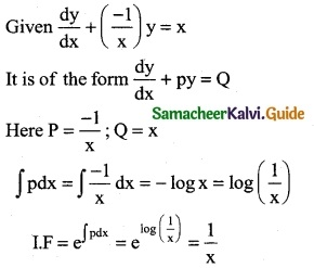 Samacheer Kalvi 12th Business Maths Guide Chapter 4 Differential Equations Ex 4.4 1