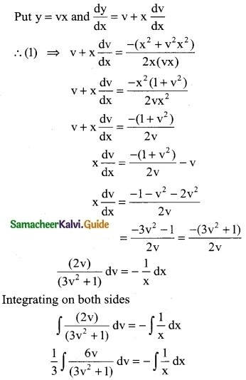 Samacheer Kalvi 12th Business Maths Guide Chapter 4 Differential Equations Miscellaneous Problems 5