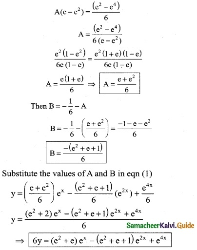 Samacheer Kalvi 12th Business Maths Guide Chapter 4 Differential Equations Miscellaneous Problems 9