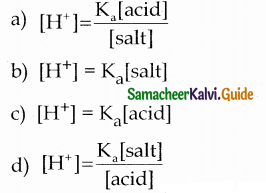 Samacheer Kalvi 12th Chemistry Guide Chapter 8 Ionic Equilibrium 11