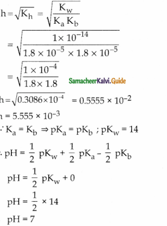 Samacheer Kalvi 12th Chemistry Guide Chapter 8 Ionic Equilibrium 21