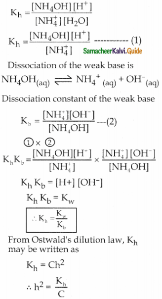 Samacheer Kalvi 12th Chemistry Guide Chapter 8 Ionic Equilibrium 22