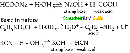 Samacheer Kalvi 12th Chemistry Guide Chapter 8 Ionic Equilibrium 3