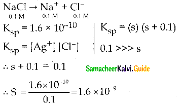 Samacheer Kalvi 12th Chemistry Guide Chapter 8 Ionic Equilibrium 6