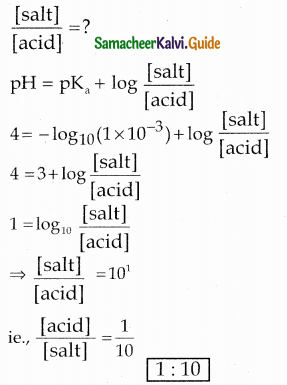 Samacheer Kalvi 12th Chemistry Guide Chapter 8 Ionic Equilibrium 8