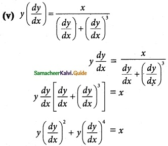 Samacheer Kalvi 12th Maths Guide Chapter 10 Ordinary Differential Equations Ex 10.1 2