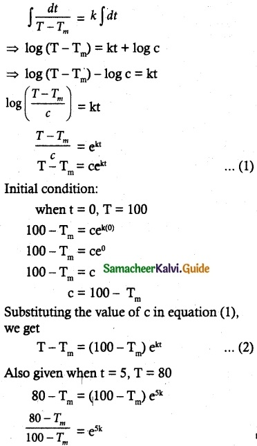 Samacheer Kalvi 12th Maths Guide Chapter 10 Ordinary Differential Equations Ex 10.8 11
