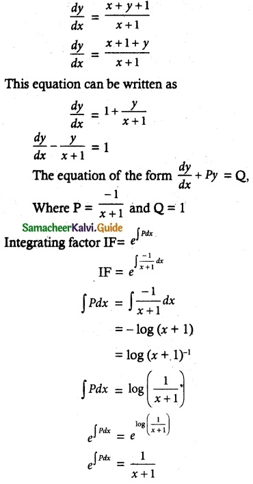 Samacheer Kalvi 12th Maths Guide Chapter 10 Ordinary Differential Equations Ex 10.9 11