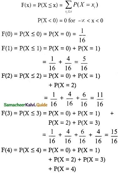 Samacheer Kalvi 12th Maths Guide Chapter 11 Probability Distributions Ex 11.2 11