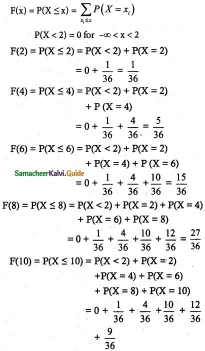 Samacheer Kalvi 12th Maths Guide Chapter 11 Probability Distributions Ex 11.2 6