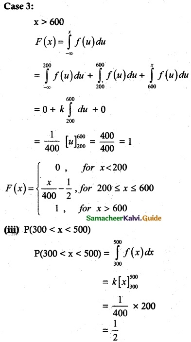 Samacheer Kalvi 12th Maths Guide Chapter 11 Probability Distributions Ex 11.3 9