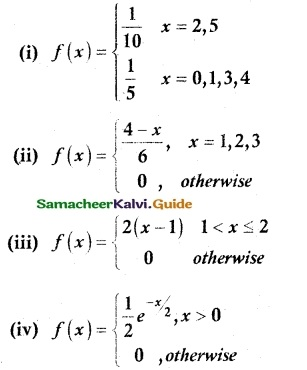 Samacheer Kalvi 12th Maths Guide Chapter 11 Probability Distributions Ex 11.4 1