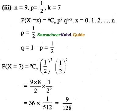 Samacheer Kalvi 12th Maths Guide Chapter 11 Probability Distributions Ex 11.5 3