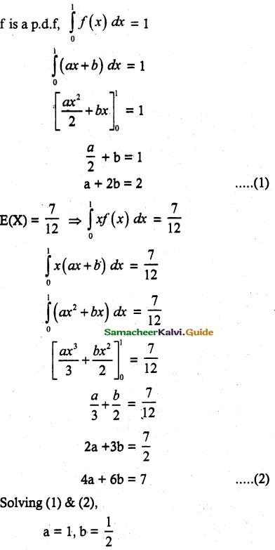 Samacheer Kalvi 12th Maths Guide Chapter 11 Probability Distributions Ex 11.6 14