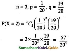 Samacheer Kalvi 12th Maths Guide Chapter 11 Probability Distributions Ex 11.6 18