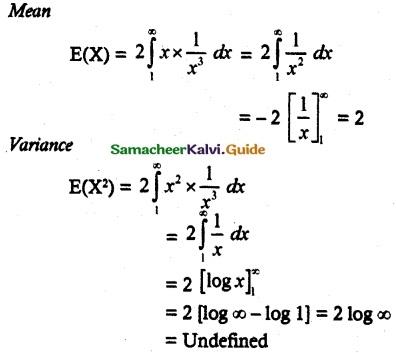 Samacheer Kalvi 12th Maths Guide Chapter 11 Probability Distributions Ex 11.6 2