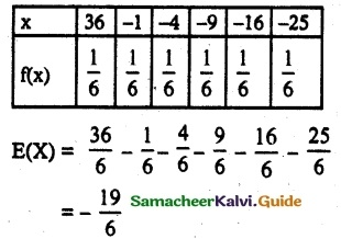 Samacheer Kalvi 12th Maths Guide Chapter 11 Probability Distributions Ex 11.6 5