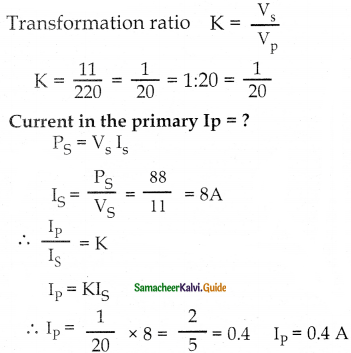Samacheer Kalvi 12th Physics Guide Chapter 4 Electromagnetic Induction and Alternating Current 56
