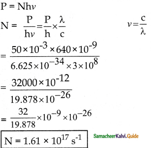 Samacheer Kalvi 12th Physics Guide Chapter 7 Dual Nature of Radiation and Matter 25