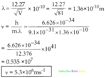 Samacheer Kalvi 12th Physics Guide Chapter 7 Dual Nature of Radiation and Matter 26