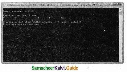 Samacheer Kalvi 11th Computer Science Guide Chapter 10 Flow of Control 38