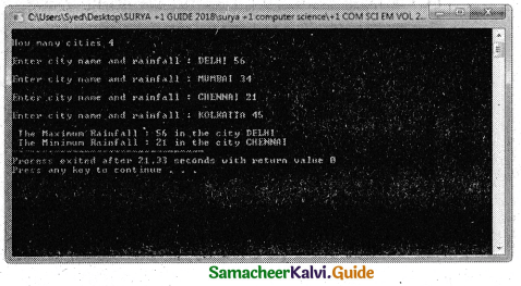 Samacheer Kalvi 11th Computer Science Guide Chapter 12 Arrays and Structures 10