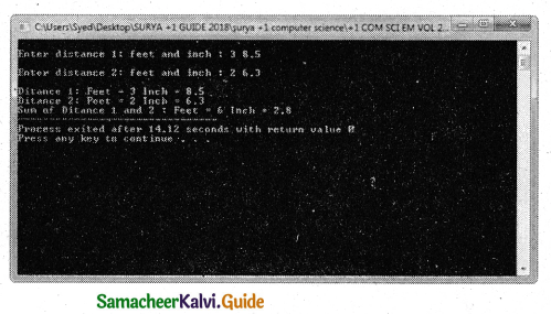 Samacheer Kalvi 11th Computer Science Guide Chapter 12 Arrays and Structures 14