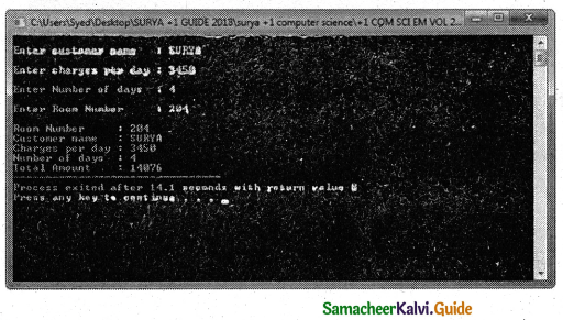 Samacheer Kalvi 11th Computer Science Guide Chapter 14 Classes and Objects 16