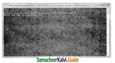 Samacheer Kalvi 11th Computer Science Guide Chapter 9 Introduction to C++ 20
