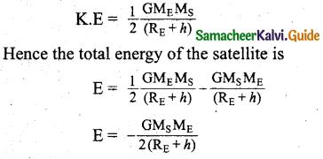 Samacheer Kalvi 11th Physics Guide Chapter 6 Gravitation 29
