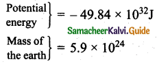 Samacheer Kalvi 11th Physics Guide Chapter 6 Gravitation 46