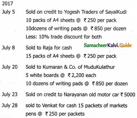 Samacheer Kalvi 11th Accountancy Guide Chapter 6 Subsidiary Books – I 53