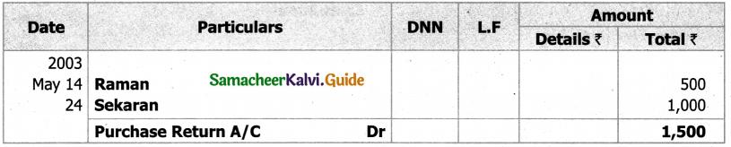 Samacheer Kalvi 11th Accountancy Guide Chapter 6 Subsidiary Books – I 65