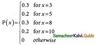 Samacheer Kalvi 12th Business Maths Guide Chapter 6 Random Variable and Mathematical Expectation Ex 6.1 2