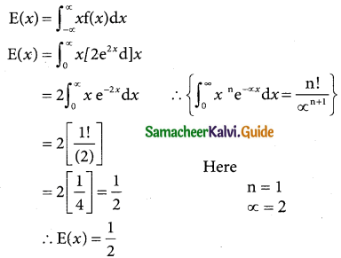 Samacheer Kalvi 12th Business Maths Guide Chapter 6 Random Variable and Mathematical Expectation Miscellaneous Problems 10