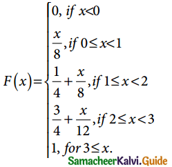 Samacheer Kalvi 12th Business Maths Guide Chapter 6 Random Variable and Mathematical Expectation Miscellaneous Problems 2