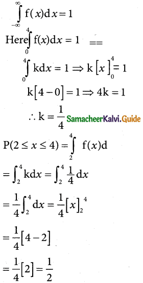 Samacheer Kalvi 12th Business Maths Guide Chapter 6 Random Variable and Mathematical Expectation Miscellaneous Problems 4