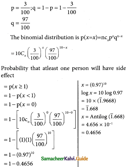 Samacheer Kalvi 12th Business Maths Guide Chapter 7 Probability Distributions Ex 7.1 25