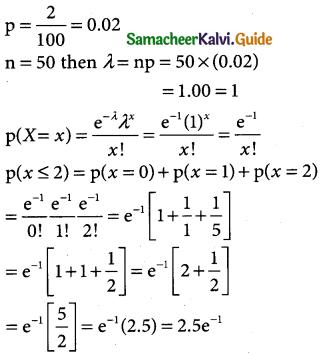 Samacheer Kalvi 12th Business Maths Guide Chapter 7 Probability Distributions Ex 7.4 3