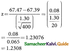 Samacheer Kalvi 12th Business Maths Guide Chapter 8 Sampling Techniques and Statistical Inference Ex 8.2 1