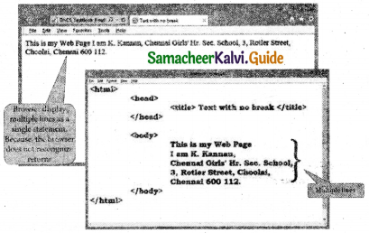 Samacheer Kalvi 11th Computer Applications Guide Chapter 10 HTML – Structural Tags 10