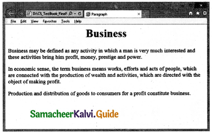Samacheer Kalvi 11th Computer Applications Guide Chapter 10 HTML – Structural Tags 13