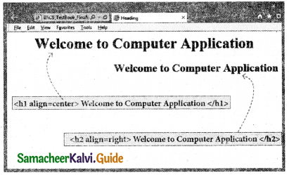 Samacheer Kalvi 11th Computer Applications Guide Chapter 10 HTML – Structural Tags 9