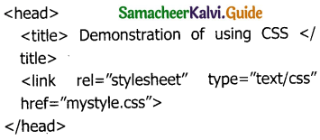 Samacheer Kalvi 11th Computer Applications Guide Chapter 13 CSS – Cascading Style Sheets 2