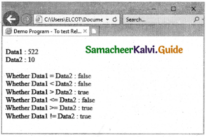 Samacheer Kalvi 11th Computer Applications Guide Chapter 14 Introduction to Javascript 16