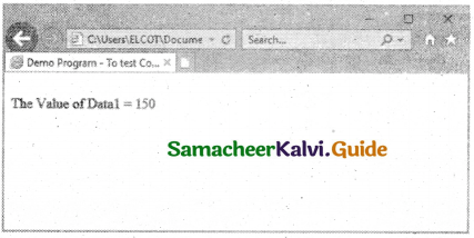 Samacheer Kalvi 11th Computer Applications Guide Chapter 14 Introduction to Javascript 18