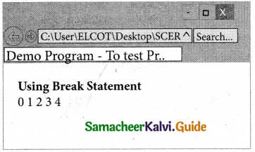 Samacheer Kalvi 11th Computer Applications Guide Chapter 15 Control Structure in JavaScript 24